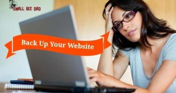 back up your website