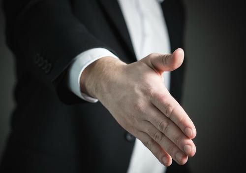 community engagement handshake