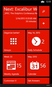 windows phone calendar app