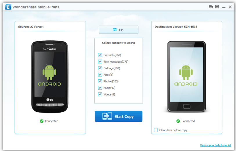 mobiletrans screenshot